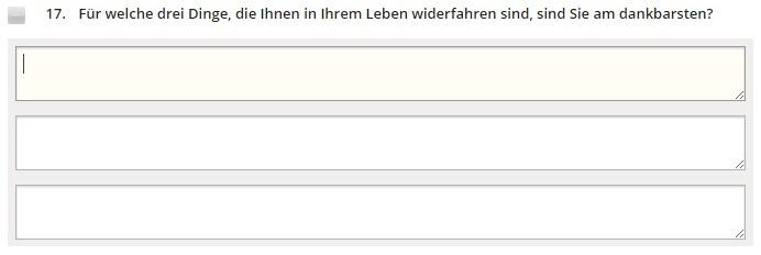Beispiel für Persönlichkeitstest-Frage. © eDarling