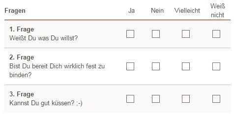 """Beispiel für """"Fragen"""". © Elitepartner"""