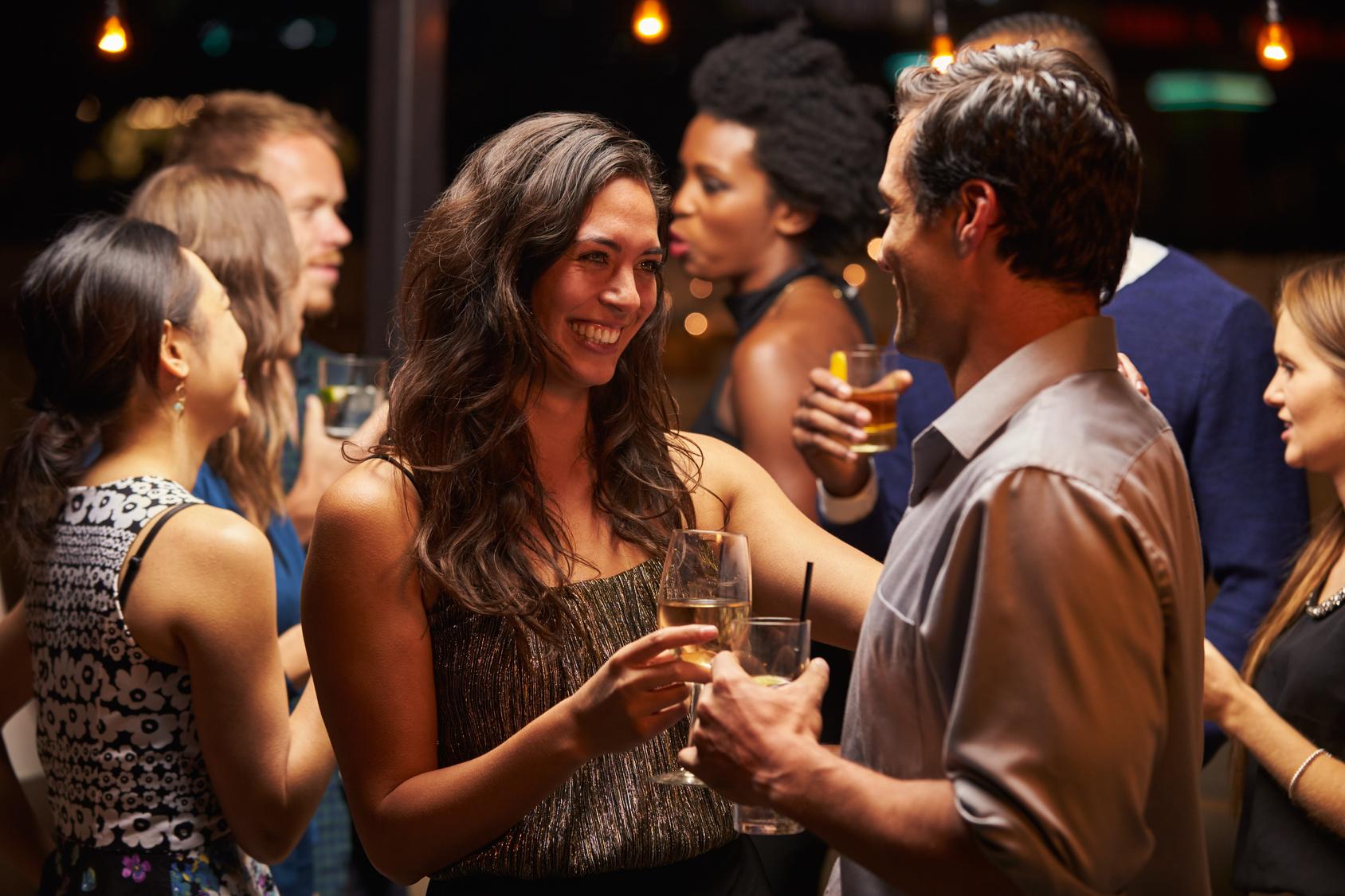 Menschen auf einer Party
